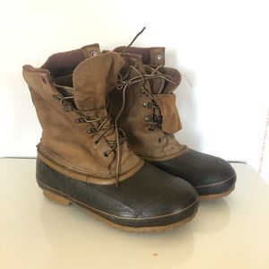 Men's Red Ball Boundary Lined Winter Duck Boots 8